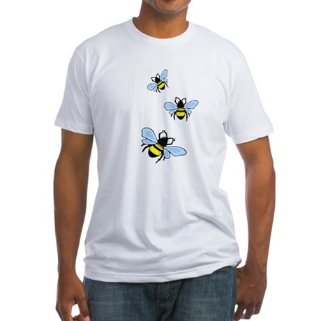 Bumble Bees Fitted T-Shirt