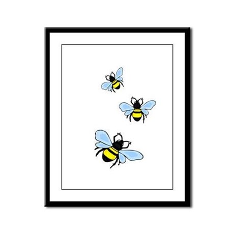 Bumble Bees Framed Panel Print
