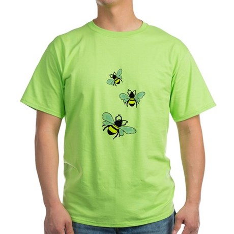 Bumble Bees Green T-Shirt