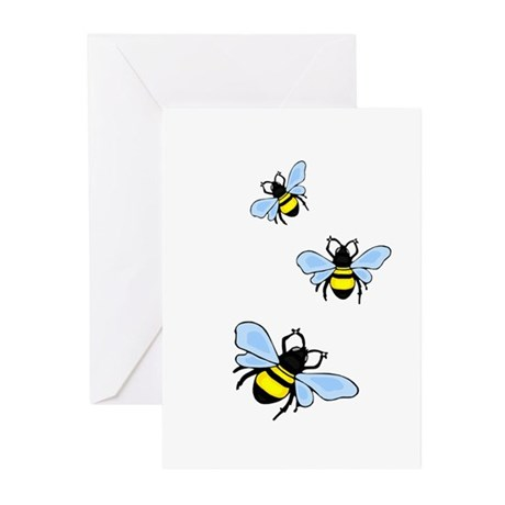 Bumble Bees Greeting Cards (Pk of 10)