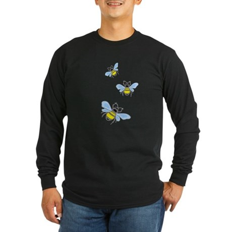 Bumble Bees Long Sleeve Dark T-Shirt