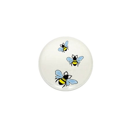 Bumble Bees Mini Button