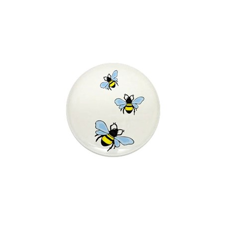 Bumble Bees Mini Button (100 pack)