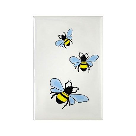 Bumble Bees Rectangle Magnet (10 pack)