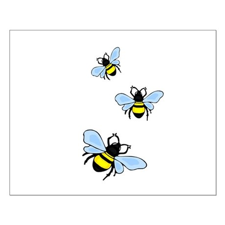 Bumble Bees Small Poster