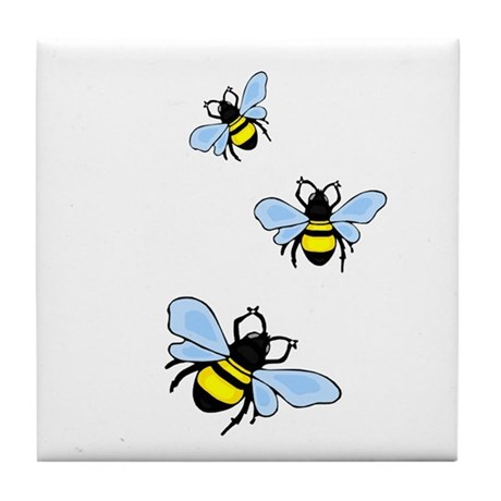 Bumble Bees Tile Coaster