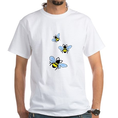 Bumble Bees White T-Shirt