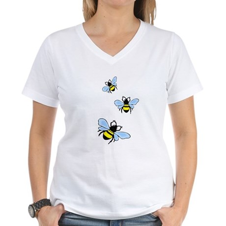 Bumble Bees Women's V-Neck T-Shirt