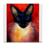 Siamese #5 Tile Coaster 4.25x4.25&quot;