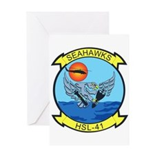 HSL-41 Sea Hawks Greeting Cards