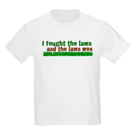 I fought the lawn Kids Light T-Shirt