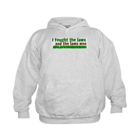 I fought the lawn Kids Hoodie