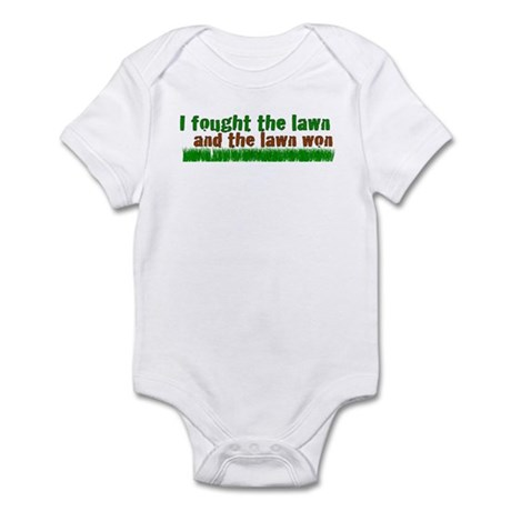 I fought the lawn Infant Bodysuit