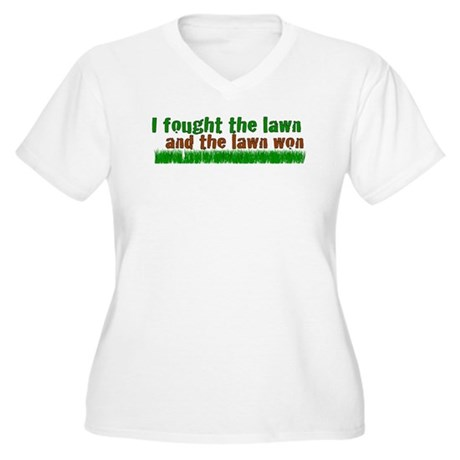 I fought the lawn Women's Plus Size V-Neck T-Shirt