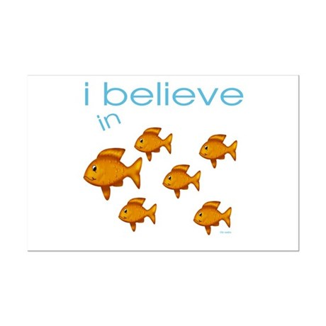 I believe in fish Mini Poster Print