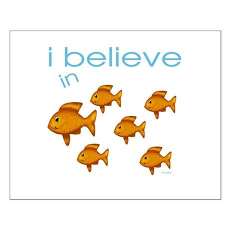 I believe in fish Small Poster