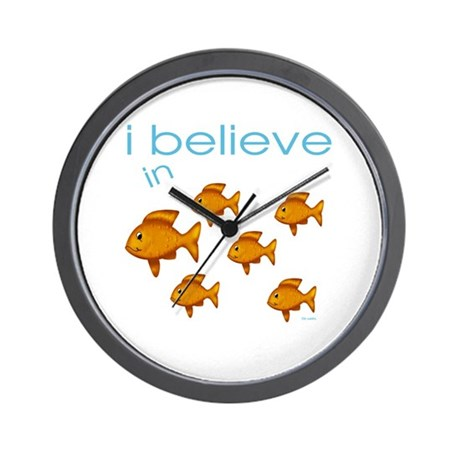 I believe in fish Wall Clock