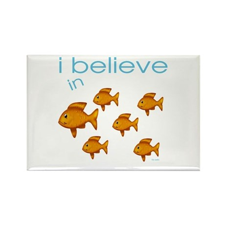 I believe in fish Rectangle Magnet (10 pack)