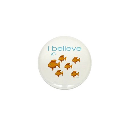 I believe in fish Mini Button (10 pack)