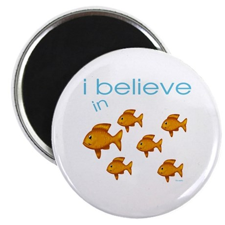 "I believe in fish 2.25"" Magnet (100 pack)"
