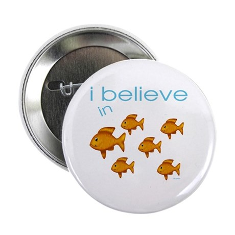I believe in fish Button