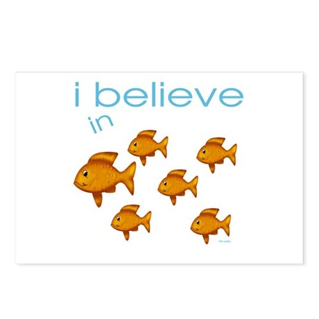 I believe in fish Postcards (Package of 8)