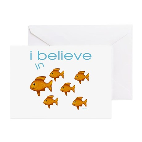 I believe in fish Greeting Cards (Pk of 10)