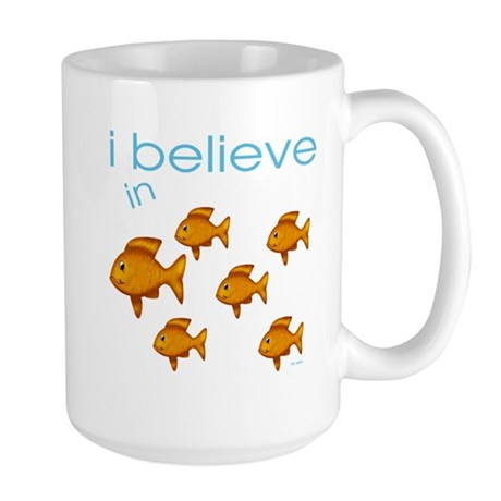 I believe in fish Large Mug