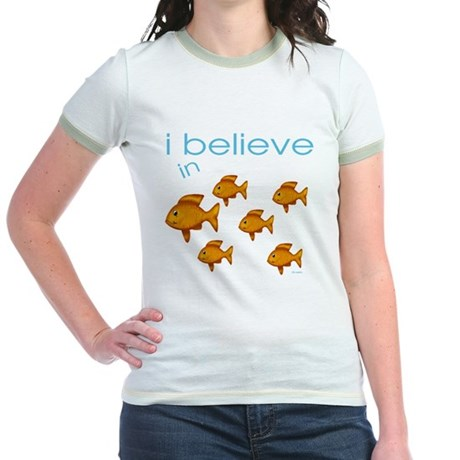 I believe in fish Jr. Ringer T-Shirt
