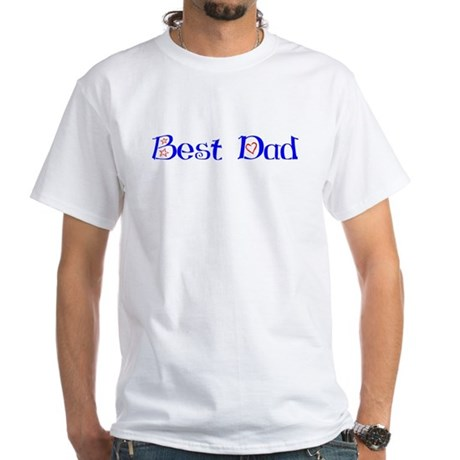 Best Dad White T-Shirt