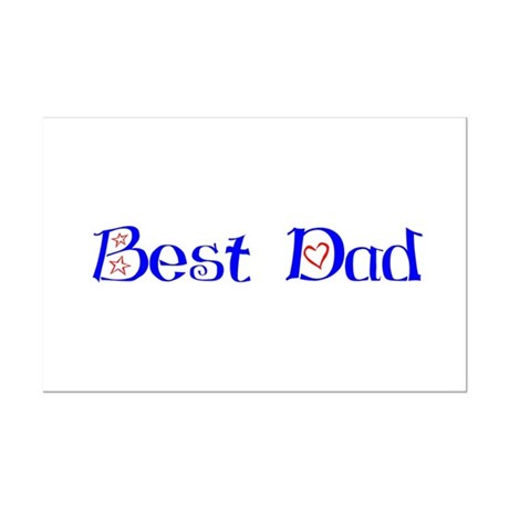 Best Dad Mini Poster Print
