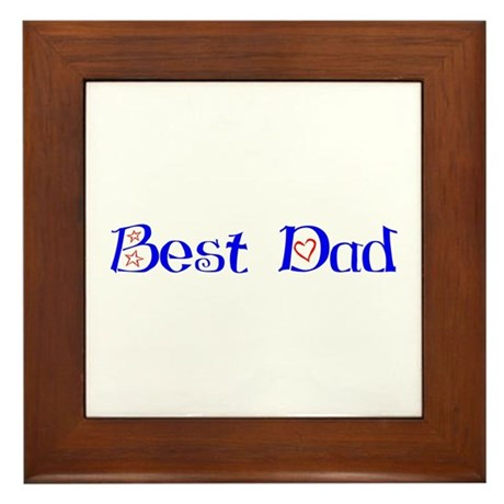 Best Dad Framed Tile