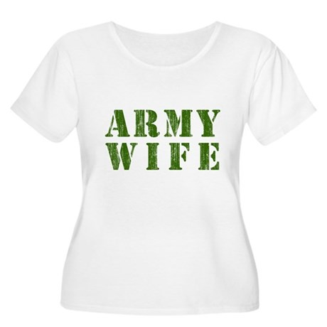 Army Wife Plus Size Scoop Neck Shirt