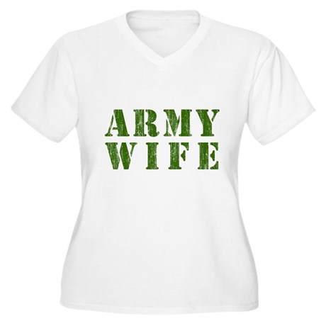 Army Wife Plus Size V-Neck Shirt