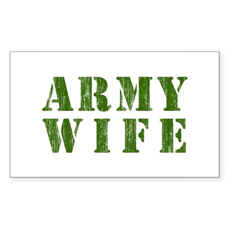 Army Wife Rectangle Sticker
