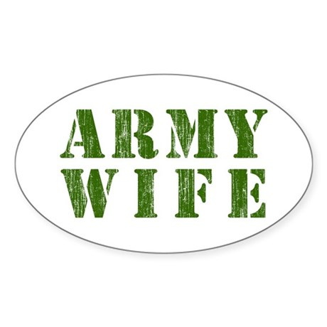 Army Wife Oval Sticker