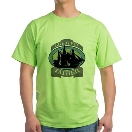 Greatest Father Green T-Shirt