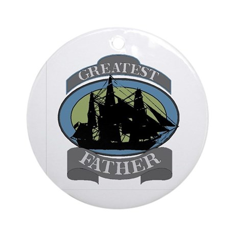 Greatest Father Ornament (Round)