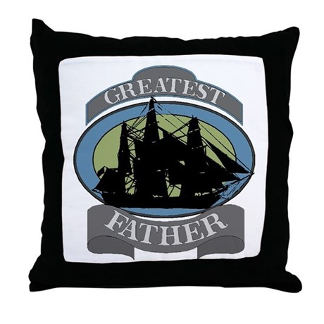 Greatest Father Throw Pillow
