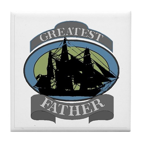 Greatest Father Tile Coaster