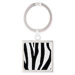 Zebra Striped animal Square Keychain