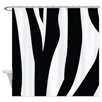 Zebra Striped animal Shower Curtain