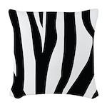 Zebra Striped animal Woven Throw Pillow