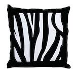 Zebra Striped animal Throw Pillow
