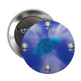 "Warp Speed UFO & Aliens 2.25"" Button (100 pack)"