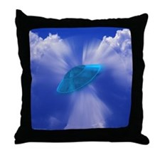 Warp Speed UFO ~ Throw Pillow