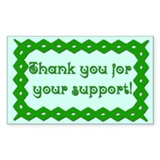 Thank you for your support Tip Jar Decal
