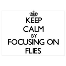 Keep Calm by focusing on Flies Invitations