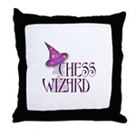 Chess Wizard Throw Pillow