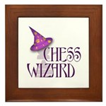 Chess Wizard Framed Tile